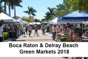 Boca Raton & Delray Beach Green Markets 2018